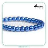 Abalorio cristal azul oscuro aperlado 4mm (1 tira de 225unidades aprox.) ABAL-Cristal C75691