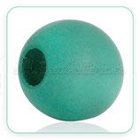 Madera abalorio bola verde azulado muy grande 25mm (dos unidades)