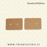 Etiquetas Kraft marrón EXHIBICIÓN PENDIENTES  pequeñas 35mm  (25 unidades)