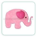 Apliques de tela bordada Elefante infantil APL-C44972