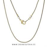 Cadena hipoalergénica tono bronce claro casi dorado (Textura serpiente)  60,5cm C66505