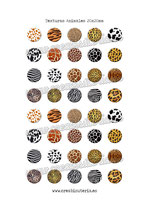 40 Imágenes de estampados de texturas animales 20x20mm