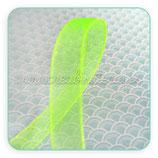 Cinta organza amarillo flúor fina 0,7cm ancho