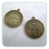 Colgante medalla El Principito doble cara COLOOO-C02414 (2 unidades)