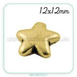 Entrepieza dorada - DO1- x -  Estrella -ENTOOO-PGLF11199Y  (10 unidades)