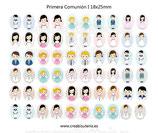 50 Imágenes Primera comunión 18x25mm
