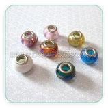 Entrepieza tipo Pandora  color metalizado ( 5 piezas) ENTR-P09114