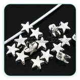 Entrepieza P1 - 04 estrella mini plata antigua 6mm (20piezas) ENTOOO-C06054