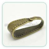 UTIL- Colgante clip labrado grande bronce ACCOTR-C17276 - 40piezas