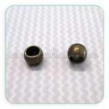 Entrepieza BOLA IV- 53 BRONCE-  bronce viejo 6x5mm agujero 4mm (10 piezas) ENTOOO-R12014b