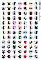 84 Imágenes de gráficos de gatos sobre color 20x20mm