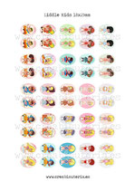 50 Imágenes Recortables Liddle kiddles paper doll 18x25mm