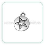 "Charm estrella medalla ""star"" CHAOOO-C64197 (20 unidades)"