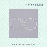 Aro PLATEADO - redondo plano 12mm ARO-P712  (25 unidades)