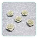 Cabuchón Resina Flor color blanco 10x10mm (10 unidades) CABOOO-C20719