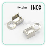 INOX - Terminales de aplastar 9x4x4,5mm PM009-01A(10 unidades)