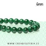 Abalorio cristal verde oscuro aperlado 6mm (1 tira de 135unidades aprox.) ABAL-Cristal C59575
