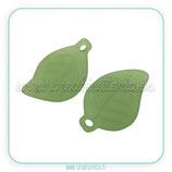 FLORLUCIT  -Hojas traslucidas verde hierba alargadas  (10 Unidades)PFACR-551-3