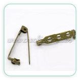 Imperdible cierre de seguridad bronce antiguo ACCBRO-C14156 (10 unidades)