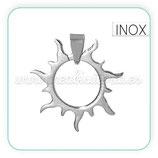 INOX - Colgante Sol troquelado con clip