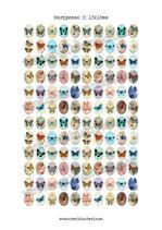 120 Imágenes vintage de mariposas 13x18mm