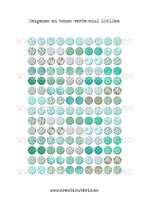 140 Imágenes de estampados tela tonos verde-azul 12x12mm