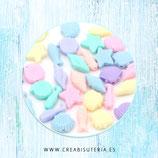 Abalorio acrílico Tema Marino Mix tono pastel C57  (40 unidades)