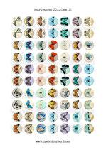 70 Imágenes vintage de mariposas II *Nuevas* 20x20mm