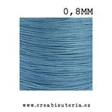Cordón macramé Gama Deluxe 0,8mm  Color azul claro  (5 metros)