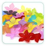 FLORLUCIT 04G-Flores acrílicas GRANDES 28,7x7mmmm colores mates (6 Unidades) C12047