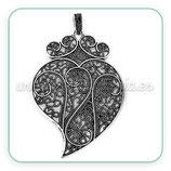 Colgante labrado simbolo moda corazón muy grande con colgante clip CON-R39394M