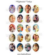 Imágenes Maternidad Vintage redondas