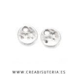 Charm mini - 015 - Redondo  mini  plateado P22  (40 piezas)
