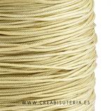 Cordón macramé 1mm  Calidad Suprema  Color Beis/Trigo   (5 metros)
