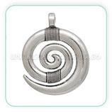 Colgante CELTA plateado  Espiral nudos C0080031 - 5 unidades