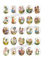 25 Imágenes de muñecas de ilustraciones de años 80 I 30x40mm