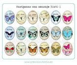 18 Imágenes de mariposas con mensaje I 30x40mm