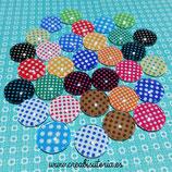 Lote único 16 pares de cabus topitos de colores