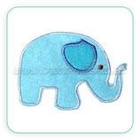Apliques de tela bordada Elefante infantil - 7 unidades