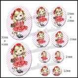 Imagen muñeca vestido rojo Monotema