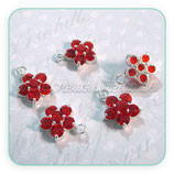 Charm flor strass rojo CHAOOO-C05915 (2 unidades)