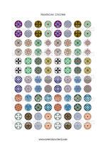 96 Imágenes de mandalas I 15x15mm