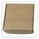 Caja almacenaje cartón craft  grande 75x75mm (10 unidades)