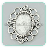 Camafeo oval ornamental 18x25 plateado CAMBAS-C08290