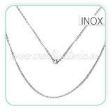 INOX - Cadena con cierre inox  plateada  CORTA  51cm  Inox C85155