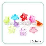 FLORLUCIT 50 MINI  -Florecillas acrícilicas minis traslúcidas10x9mm colores (20 Unidades) C25928