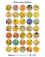 35 Texturas Gustav Klimt 30mm