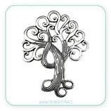 Colgante árbol de la vida gigante plata vieja ramas   COLOOO-R19880