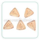 Abalorio cristal triangular ambar 12x11mm C64305 (4 unidades)