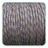 Cordón de Nylon de Escalada Redondo 3mm beis, pizcas azules y naranjas  (3 metros)